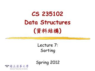 CS 235102  Data Structures  ( ???? )