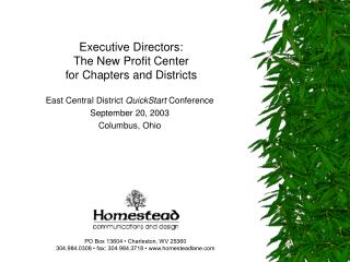 Executive Directors: The New Profit Center  for Chapters and Districts