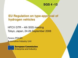 EU Regulation on type-approval of hydrogen vehicles