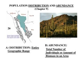 POPULATION  DISTRIBUTION  AND  ABUNDANCE (Chapter 9)