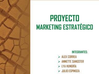 PROYECTO MARKETING ESTRATÉGICO