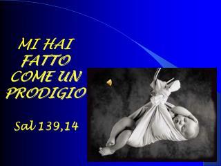 MI HAI FATTO COME UN PRODIGIO Sal 139,14