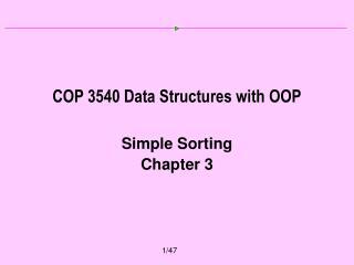 COP 3540 Data Structures with OOP