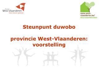 Steunpunt duwobo provincie West-Vlaanderen: voorstelling