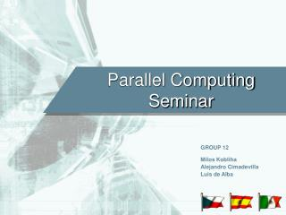 Parallel Computing Seminar