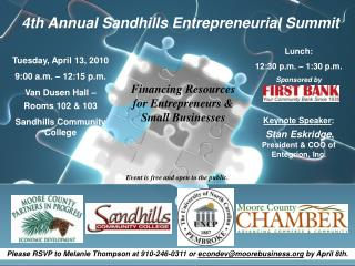 4th Annual Sandhills Entrepreneurial Summit