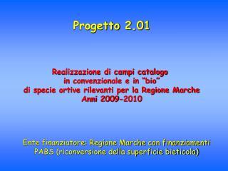 Progetto 2.01