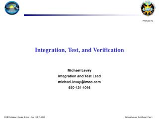Integration, Test, and Verification