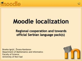 Moodle localization