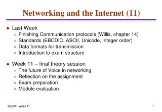 Networking and the Internet (11)