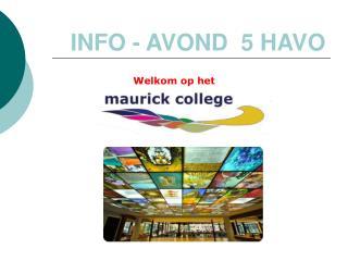 INFO - AVOND  5 HAVO
