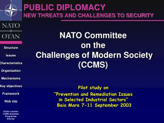 NATO Committee  on the  Challenges of Modern Society (CCMS)