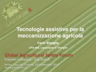 Tecnologie assistive per la meccanizzazione agricola