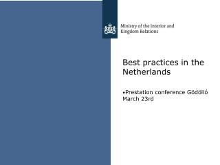 Best  practices  in the  Netherlands
