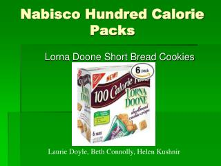 Nabisco Hundred Calorie Packs