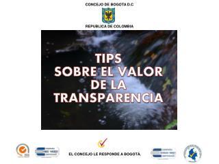 TIPS  SOBRE EL VALOR DE LA TRANSPARENCIA