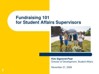 Fundraising 101  for Student Affairs Supervisors
