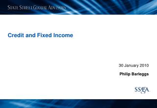Credit and Fixed Income
