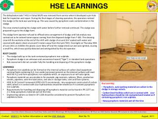 HSE LEARNINGS