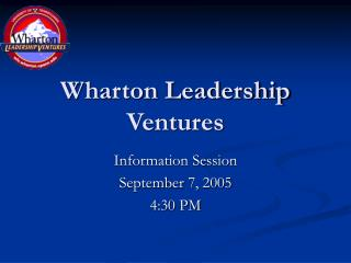 Wharton Leadership Ventures