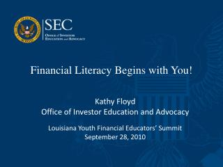 Financial Literacy Begins with You!