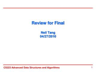 Review for Final  Neil Tang 04/27/2010