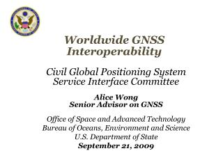 Worldwide GNSS Interoperability