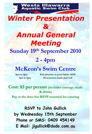 Winter Presentation & Annual General Meeting