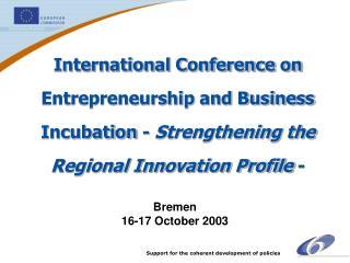 Bremen 16-17 October 2003