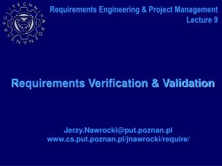Requirements Verification & Validation