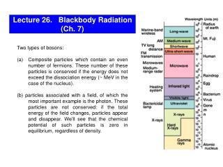 Lecture 26.   Blackbody Radiation   Ch. 7