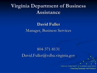 Virginia Department of Business Assistance