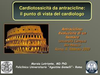 Cardiotossicit  da antracicline:  il punto di vista del cardiologo