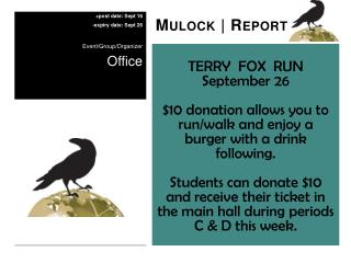 TERRY  FOX  RUN September 26
