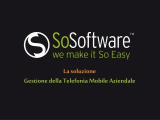 La soluzione Gestione della Telefonia Mobile Aziendale