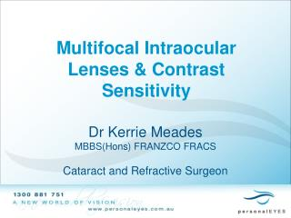 Multifocal Intraocular Lenses  Contrast Sensitivity