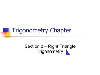 Trigonometry Chapter
