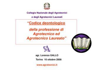Collegio Nazionale degli Agrotecnici  e degli Agrotecnici Laureati