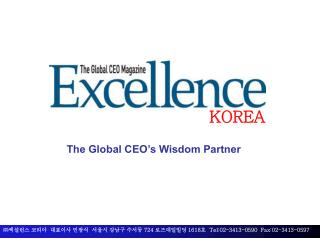 The Global CEO's Wisdom Partner