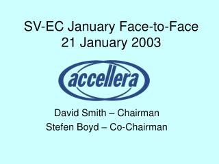 SV-EC January Face-to-Face 21 January 2003