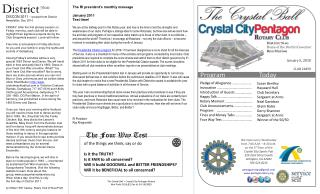 DISCON 2011 -  excerpt from District Newsletter, Dec 2010