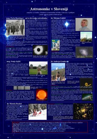 Astronomke v Sloveniji