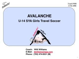 AVALANCHE U-14 SYA Girls Travel Soccer