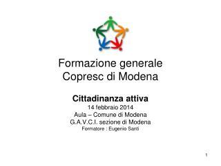 Formazione generale Copresc di Modena