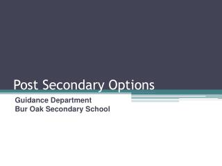 Post Secondary Options
