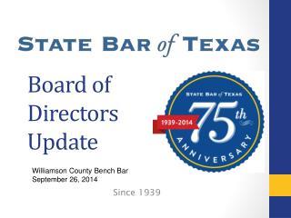 Board of Directors Update