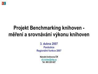 Projekt Benchmarking knihoven - měření a srovnávání výkonu knihoven