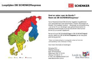 Looptijden DB SCHENKER express
