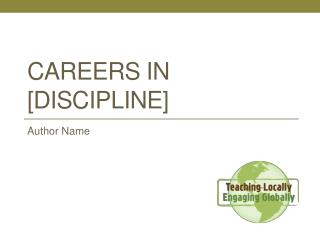 Careers in [discipline]