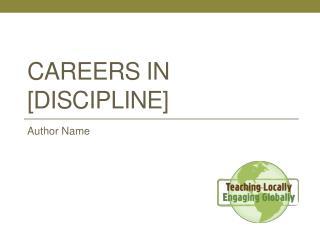 Careers in [discipline]